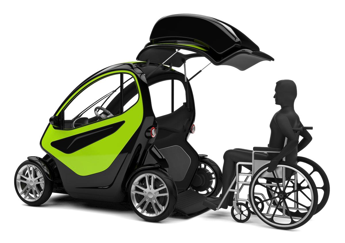 equal une voiture pour personnes en fauteuil roulant