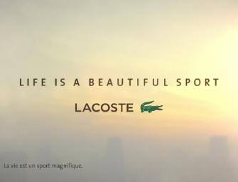 Life Is A Beautiful Sport par Lacoste