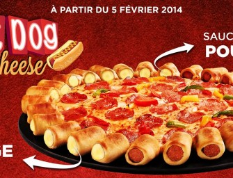 La FAT pizza hot-dog & cheese de Pizza Hut