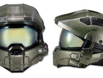 Le casque moto version Master Chief de la saga Halo.
