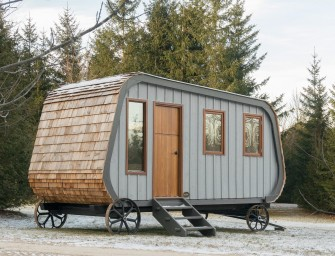 Collingwood Shepherd Hut : Un mélange de roulotte et petite cabane confortable et chaleureux