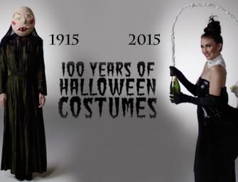 100 ans de costumes d'Halloween résumé en 3 minutes