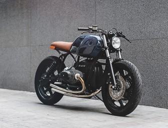 Custom minimaliste et moderne d'une BMW R80 l'atelier londonien Auto Fabrica