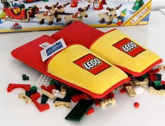 Des chaussons LEGO pour protéger vos pieds des petites briques
