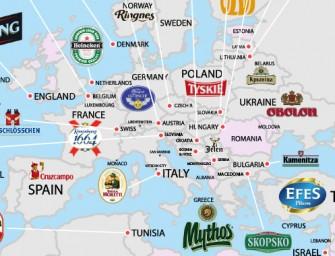 Quelles sont les bières les plus appréciées dans le monde selon les pays ? La réponse en image avec cette mappemonde de la bière