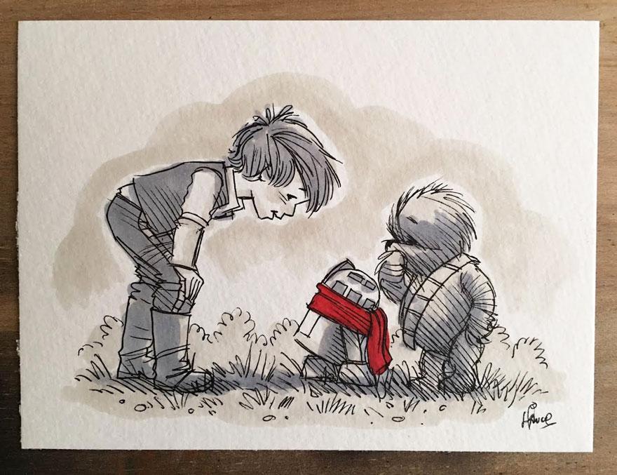 Star Wars à la sauce Winnie L'ourson