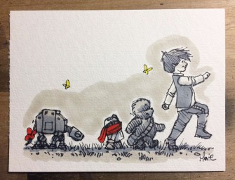 Illustrations des personnages Star Wars à la sauce Winnie L'ourson