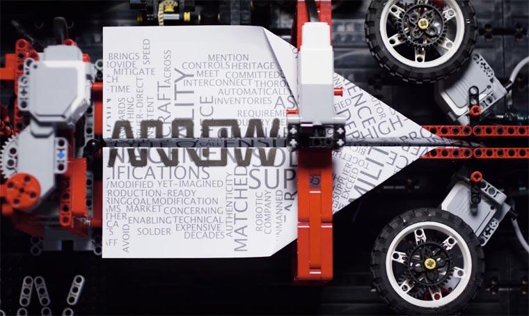 LEGO Paper Plane Machine2