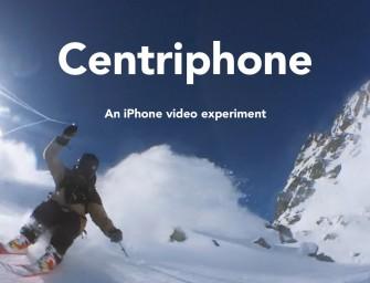 Centriphone : Un skieur de l'extrême se film sur 360 degrés lors d'une session de freeride