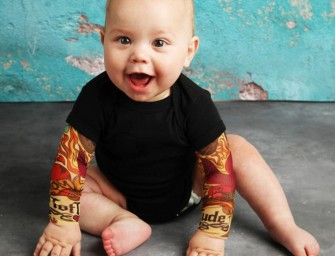 Baby Tattoo Sleeve Shirts : D'adorables tatouages pour vos bambins !