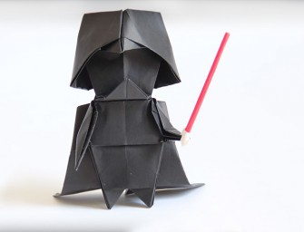Comment réaliser un Dark Vador en version Origami ?
