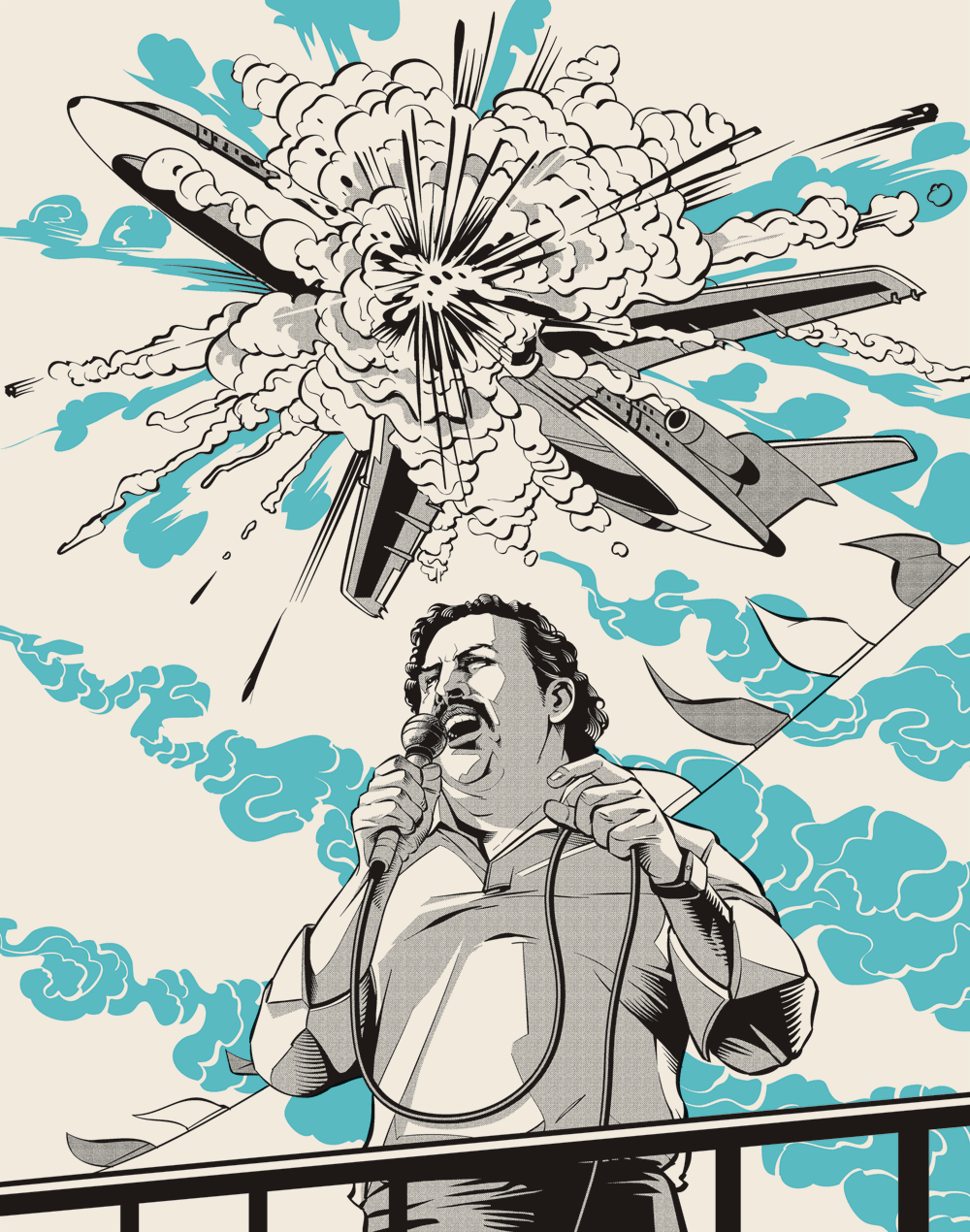 Pablo Escobar illustrations5