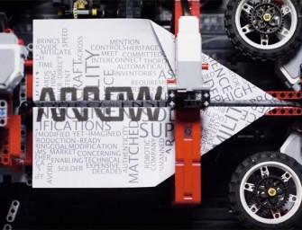 LEGO Paper Plane Machine : Une machine Lego à fabriquer des avions en papier