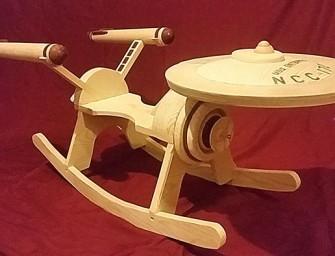 Rocking-chair pour kids fan de Star Trek